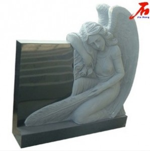 Vivid and beautiful Red color Angel headstones with good price
