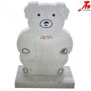 Grey Bear shaped headstone Manufacturer