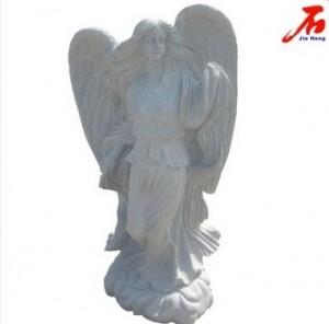 Grey Stone Religious Sculpture Angel