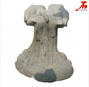 New design scenery waterfall shaped abstract granite sculpture
