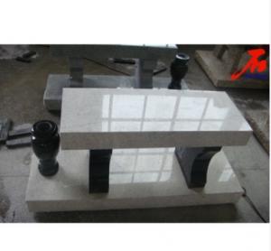 White Color Granite Bench Memorial