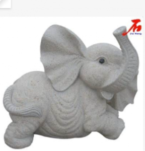 Simple Structure Granite Elephant sculpture for decoration