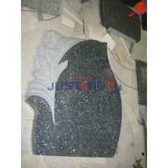 Blue Pearl granite monument with