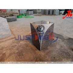 Flower sculpturer Multicolor granite urn