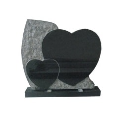 double heart headstones for graves