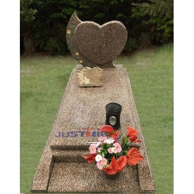 Wholesale China Granite Heart Shaped Cemetery Headstone