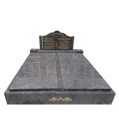 double headstone monument
